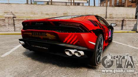 Lamborghini Huracan LP610-4 2014 Red Bull for GTA 4 back left view