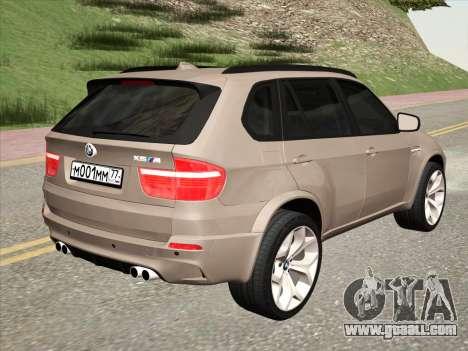 BMW X5M E70 2010 for GTA San Andreas right view