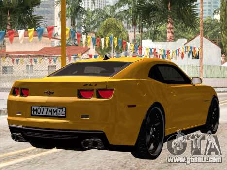 Chevrolet Camaro ZL1 2011 for GTA San Andreas back left view