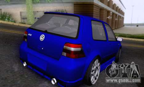 Volkswagen Golf R32 for GTA San Andreas inner view