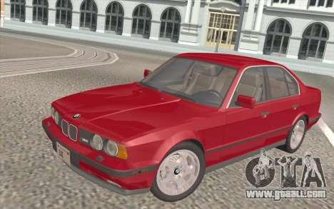 BMW M5 E34 1991 NA-spec for GTA San Andreas interior