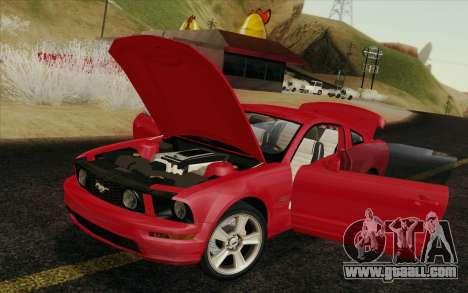 Ford Mustang GT 2005 for GTA San Andreas interior