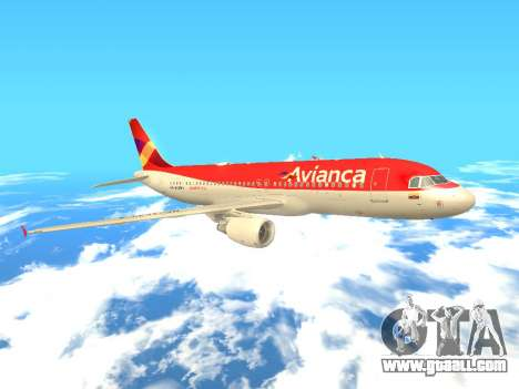 Airbus A320 Avianca Columbia for GTA San Andreas