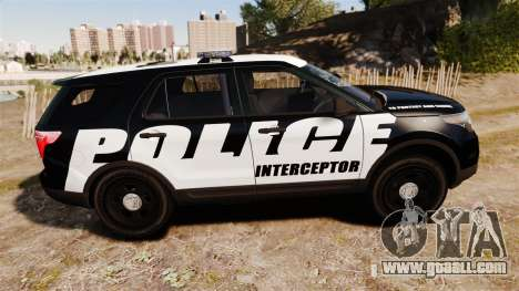 Ford Explorer 2013 Police Interceptor [ELS] for GTA 4 left view