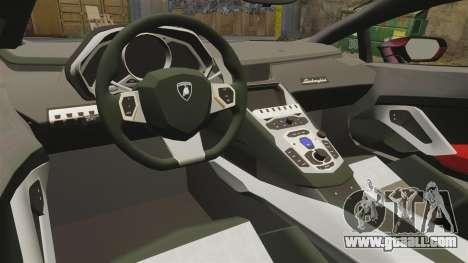 Lamborghini Huracan LP610-4 2014 Red Bull for GTA 4 inner view