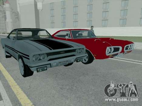 Plymouth Road RunneR GTX 1970 for GTA San Andreas inner view