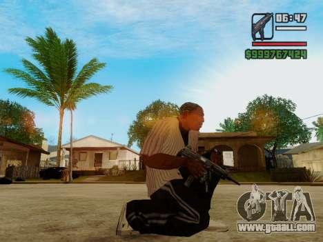The submachine gun UZI for GTA San Andreas second screenshot