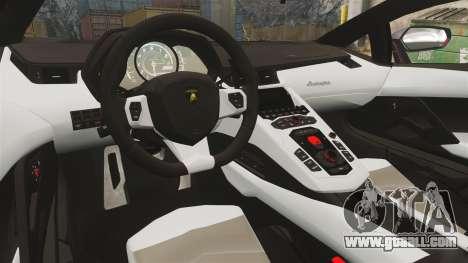 Lamborghini Aventador LP700-4 2012 [EPM] Miku 2 for GTA 4 inner view