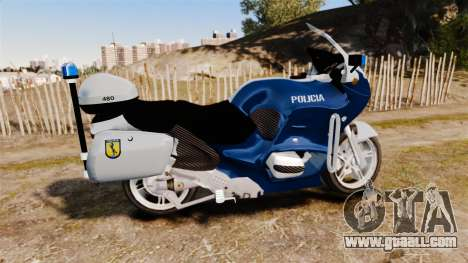 BMW R1150RT Portuguese Police [ELS] for GTA 4 left view
