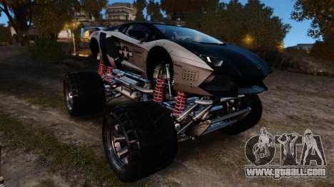 Lamborghini Aventador LP700-4 [Monster truck] for GTA 4 inner view