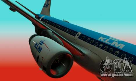 Airbus A319 KLM for GTA San Andreas inner view