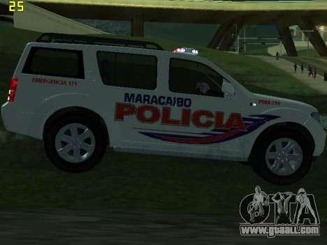 Nissan Pathfinder Polimaracaibo for GTA San Andreas interior