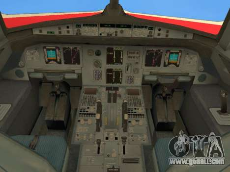 Airbus A320 Avianca Columbia for GTA San Andreas upper view