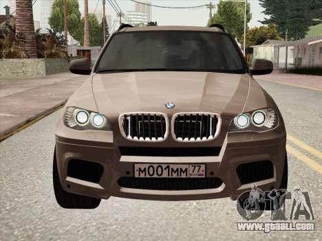 BMW X5M E70 2010 for GTA San Andreas back left view