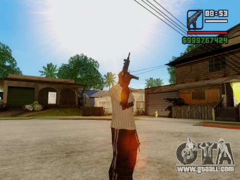 The submachine gun UZI for GTA San Andreas seventh screenshot