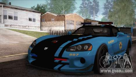 Dodge Viper SRT 10 ACR Police Car for GTA San Andreas