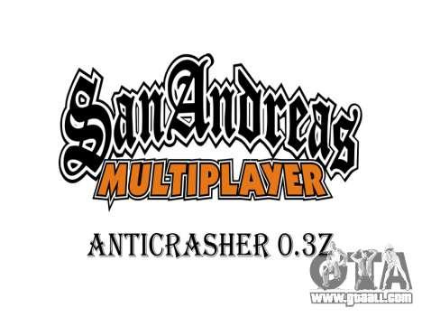 AntiCrasher for SAMP 0.3z for GTA San Andreas