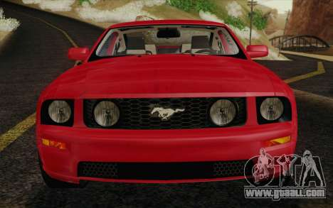 Ford Mustang GT 2005 for GTA San Andreas upper view