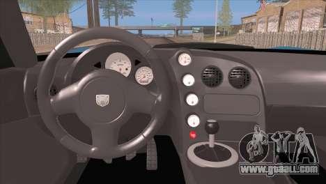 Dodge Viper SRT 10 ACR Police Car for GTA San Andreas inner view