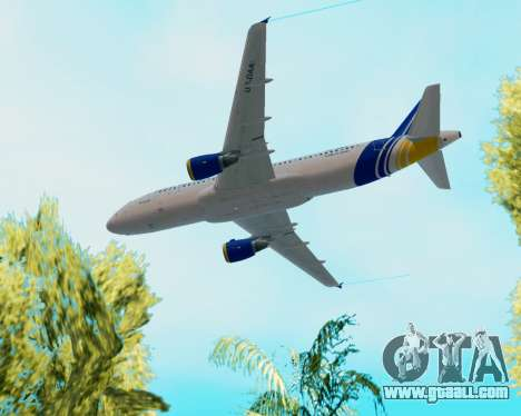 Airbus A320-200 Donbassaero for GTA San Andreas upper view