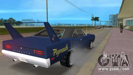 Plymouth Superbird for GTA Vice City right view