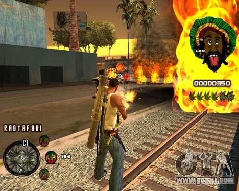 C-HUD Rastafari for GTA San Andreas second screenshot