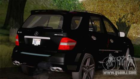 Mercedes-Benz ML63 for GTA San Andreas back left view