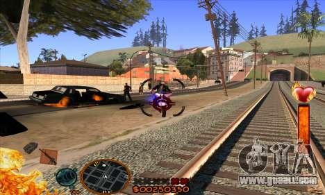 C-HUD Fire for GTA San Andreas forth screenshot