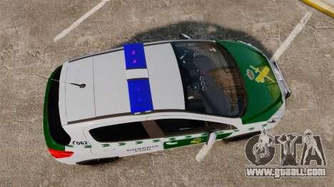 Peugeot 308 GTi 2011 Guardia Civil for GTA 4 right view