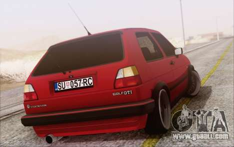 Volkswagen Golf Mk 2 for GTA San Andreas left view