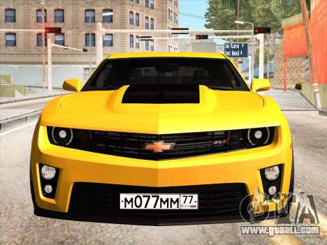 Chevrolet Camaro ZL1 2011 for GTA San Andreas inner view
