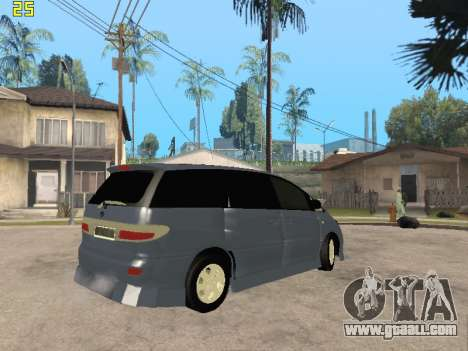 Toyota Estima Altemiss 2wd for GTA San Andreas inner view