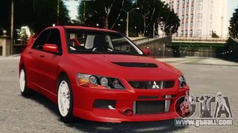 Mitsubishi Lancer Evolution IX for GTA 4