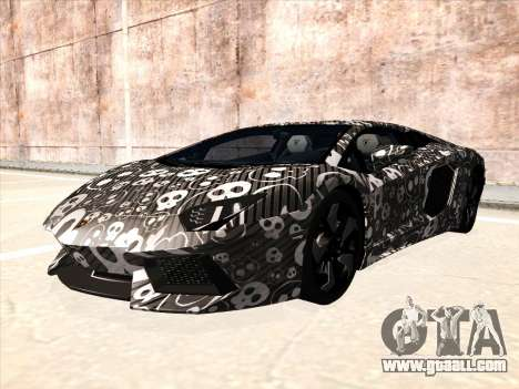 Lamborghini Aventador LP700-4 2013 for GTA San Andreas back left view