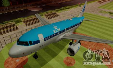 Airbus A319 KLM for GTA San Andreas upper view