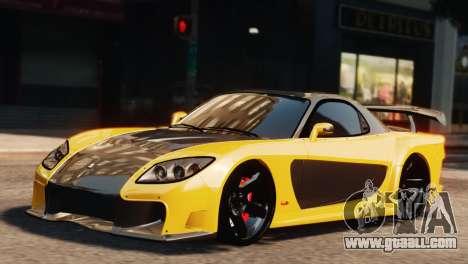 Mazda RX7 Veilside V8 for GTA 4 back left view