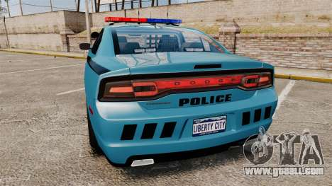 Dodge Charger 2011 LCPD [ELS] for GTA 4 back left view