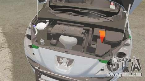 Peugeot 308 GTi 2011 Guardia Civil for GTA 4 inner view