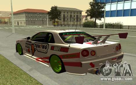 Nissan Skyline R-34 RDS for GTA San Andreas left view
