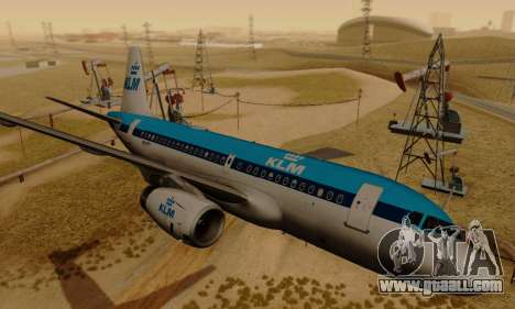 Airbus A319 KLM for GTA San Andreas back left view