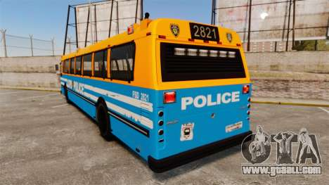 Brute Bus LCPD [ELS] v2.0 for GTA 4 back left view