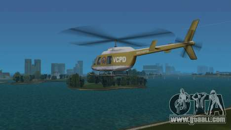 Police Helicopter from GTA VCS for GTA Vice City right view