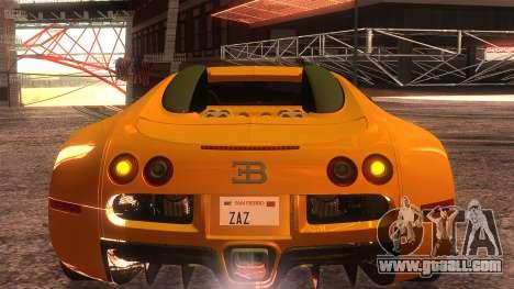 Bugatti Veyron 2009 for GTA San Andreas inner view