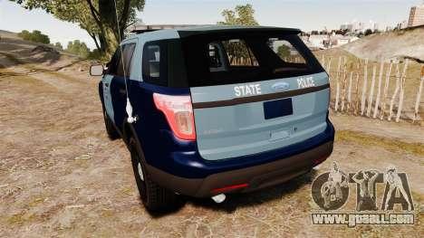 Ford Explorer 2013 MSP [ELS] for GTA 4 back left view