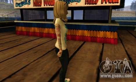 Catrina Skin for GTA San Andreas forth screenshot