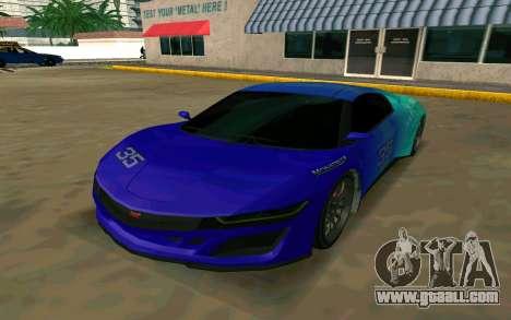GTA V Dinka Jester for GTA San Andreas left view