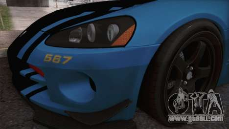 Dodge Viper SRT 10 ACR Police Car for GTA San Andreas right view