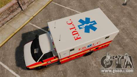 Brute Speedo FDLC Ambulance [ELS] for GTA 4 right view