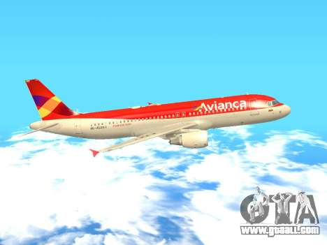 Airbus A320 Avianca Columbia for GTA San Andreas left view