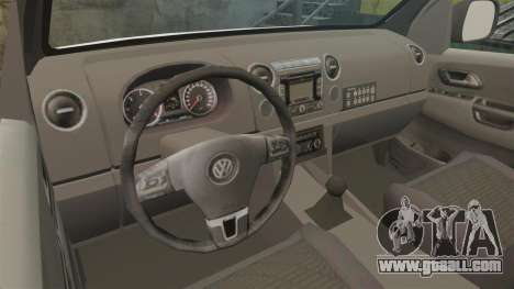 Volkswagen Amarok 2012 SAPS [ELS] for GTA 4 inner view